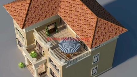 新款二两层半农村自建洋房大别墅设计图纸三层豪华欧式楼房可全包