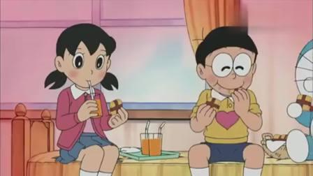 哆啦A梦:静香给大雄烤饼干吃,大雄心开怒放了,周围温度升高