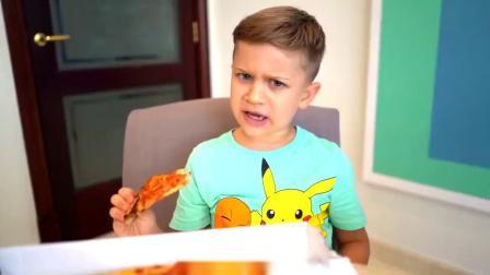 萌娃小可爱可真是个机灵鬼!小家伙为了偷吃哥哥的披萨,还使出了调虎离山之计!