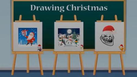 哈哈,艾达琪画的圣诞老人一点都不像 小马国女孩游戏