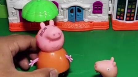 乔治要测试猪妈妈,说猪爸爸和人打起来了,乔治真皮!