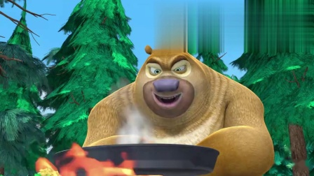 熊出没熊二想学做咖啡,还要炒咖啡豆,真不简单啊