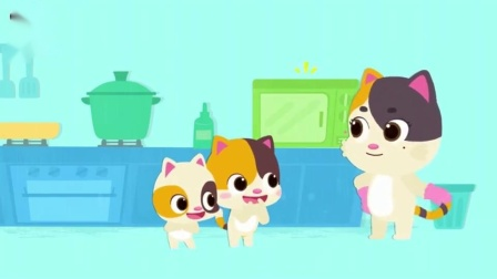 《宝宝巴士认知大全》你拿了几个 小猫偷偷吃了块蛋糕被发现了
