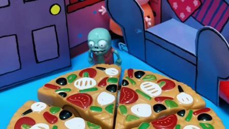 猪妈妈最近发现老有人偷吃家里的东西,猪妈妈做了披萨,在披萨上面涂上了辣椒