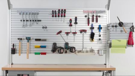 极致的灵活性— item 工具挂板系统上的新型自动 T 型槽螺母