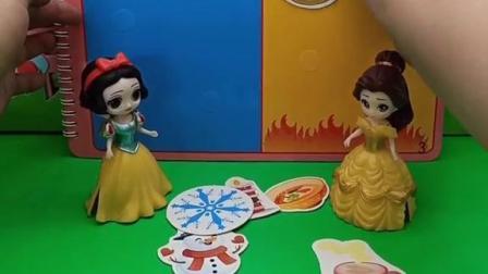 王后吩咐白雪公主和贝儿公主,做披萨,不料贝儿公主自己不会做还完全不听白雪公主的教诲
