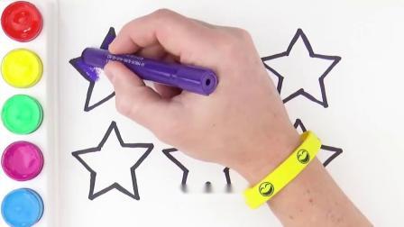 儿童简笔画一起来画闪亮的五角星