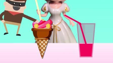 白雪公主吃冰淇淋,认识颜色英语启蒙.mp4