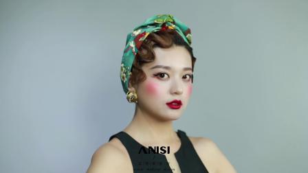 油画艺术浪漫造型,艾尼斯化妆学校的日常,就是这么奇妙!