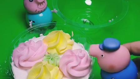 猪奶奶买了蛋糕,去叫小猪佩奇和乔治,不料猪爷爷和猪爸爸吃了蛋糕