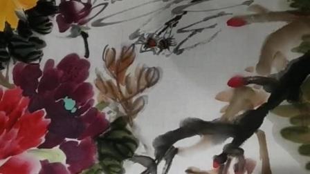 76岁著名画家李和初老师助力百姓书画苑直播间,挥毫泼墨写意花鸟,这才是快手。