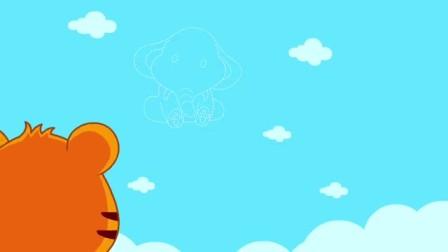"""贝乐虎在""""小象""""云彩下埋种子,与以前的哪一典故比较相似呢? 嗨贝乐虎 第一季 7 快剪  0730210114"""
