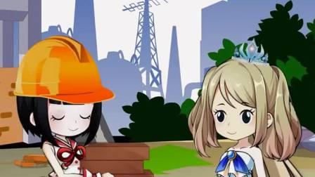 #动画 #白雪公主 白雪和贝尔一起搬砖,好勤快呀!你会给她们打100分吗?