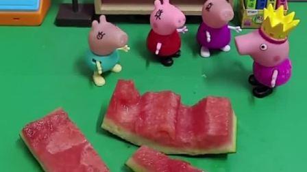 吃西瓜籽会变成大西瓜吗?乔治说会!这是真的吗?mp4