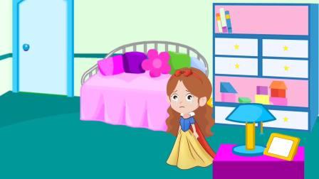 白雪公主,白雪生日,母后不给买蛋糕,贝儿做了一个芥末味的蛋糕给白雪
