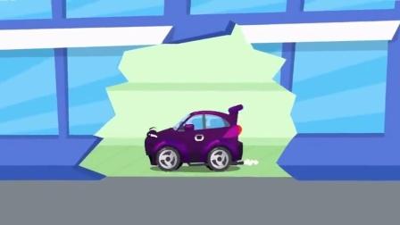 搞笑汽车玩具:吸尘器吸走了小汽车们的蛋糕和水果
