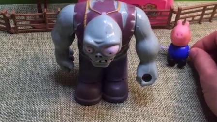 乔治担心僵尸抓小朋友,想要跟踪僵尸,乔治蹲守的僵尸是座雕像!