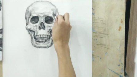 头骨正面画法3