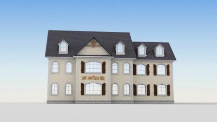 三层别墅房屋设计图,外观图片美观