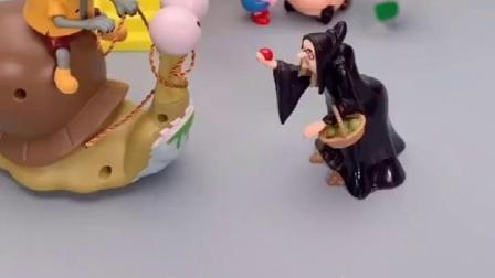小鬼把巫婆叫老太婆,巫婆生气了,不给小鬼帮忙了