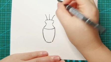 简笔画~花瓶