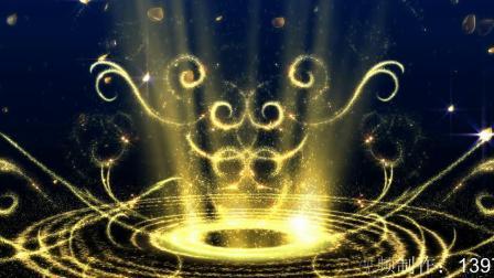 377.梦幻唯美金色粒子光圈流线花瓣飘舞LED背景视频素材