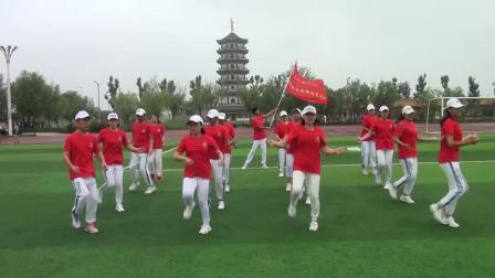 齐河县科协反志愿服务宣传队广场舞【火火的中国火火的时代】