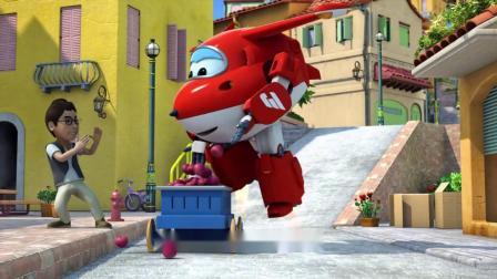 超级飞侠:这小男孩心真大,车子都失控了,他还不让乐迪帮忙停呢!