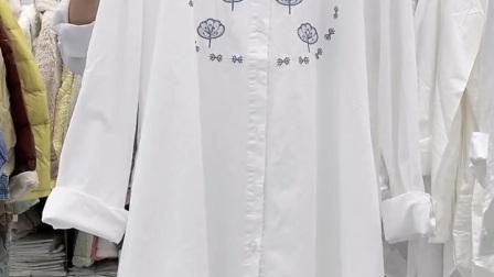 《X-486期》👍秋季新款!复古文艺范 棉麻刺绣中长款衬衫,特价35¥/件,20件一份700元