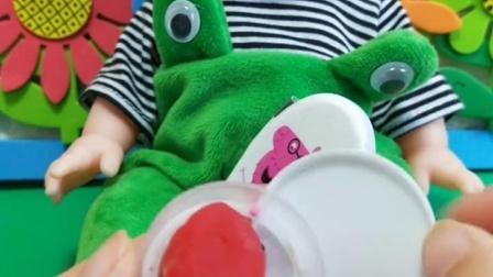 小猪佩奇玩具:乔治在卧室里设了关卡,佩奇想要回去睡觉
