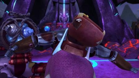 猪猪侠:河马怪太菜了,被榴莲打晕,满头的小星星!