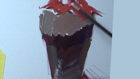 【郑州艺考美术培训】郑州巅峰画室—水粉酒坛单体