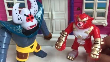 怪兽帮佩奇赶走了蝎子精,怪兽真好!