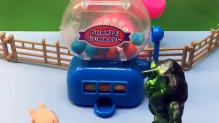 乔治发现怪兽,不料怪兽要把乔治抓走,乔治让怪兽帮忙抓糖