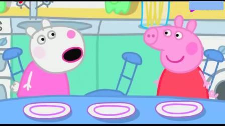 小猪佩奇:苏西将里奥的水果蛋糕给了乔治,乔治很高兴!