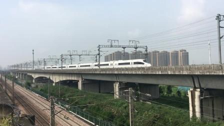 沪昆高铁 杭州枢纽G1355通过萧山特大桥
