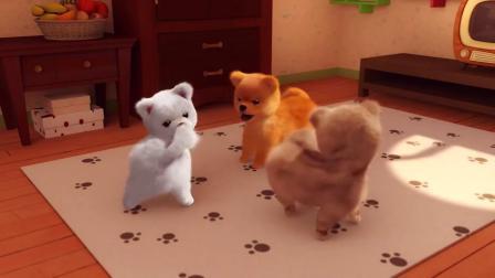 巴塔木流行儿歌:小猫咪们也喜欢看电视,好可爱啊,好想摸一摸!