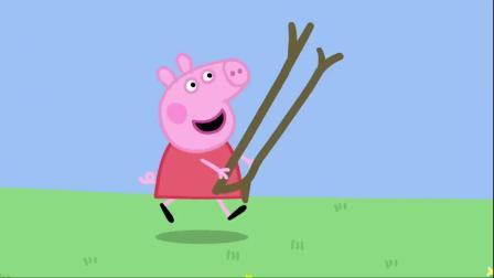 小猪佩奇:猪爷爷转身的及时,发现了是谁偷吃了花籽,真是小坏蛋