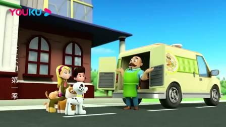汪汪队立大功:毛毛最爱香蕉了,波特先生用香蕉做了香蕉马芬!