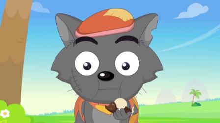 喜羊羊 :灰太狼拿着东西,和小羊们攀比,结果却一败涂地!