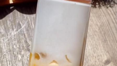 低热量芒果酸奶慕斯,入口即化超级好吃