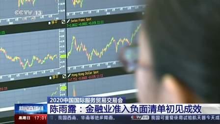 2020年中国国际服务贸易交易会 陈雨露:金融业准入清单初见成效