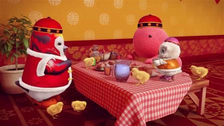 巴塔木流行儿歌:鸡宝宝来找鸡妈妈啦,好萌呀,每只都是毛茸茸的!