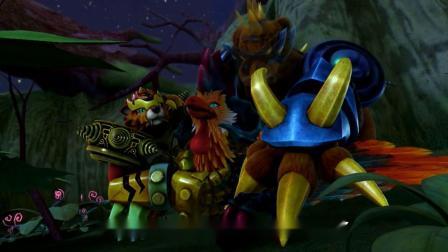 猪猪侠:偷金贼被抓获,居然是鸡龙怪,被超人强单手拎起来!