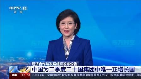 经济合作与发展组织发布公告 中国为二季度二十国集团中唯一正增长国