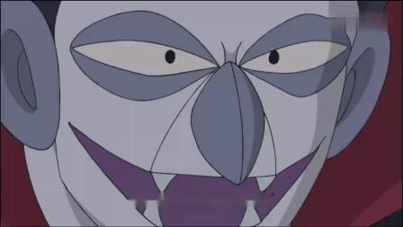 哆啦A梦被吸血鬼抓到,本想用菠萝面包攻击,却一点用都没.