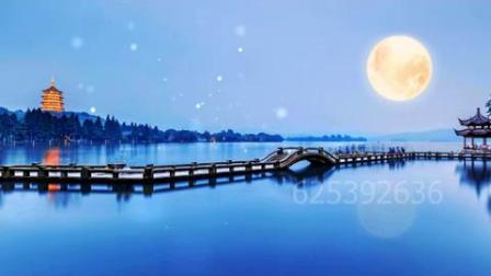 诗朗诵《月光下的中国》背景视频led大屏幕背景