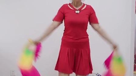 蓝蓝原创广场舞《妹妹的亲疙瘩》简单易学的扇子舞 祝福在祝福友友们秋日安康,万事如意!