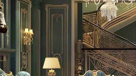 别墅装修法式风格客厅设计效果图