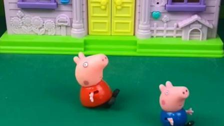佩奇叫乔治去弄坏猪妈妈的口红,结果乔治上当了!